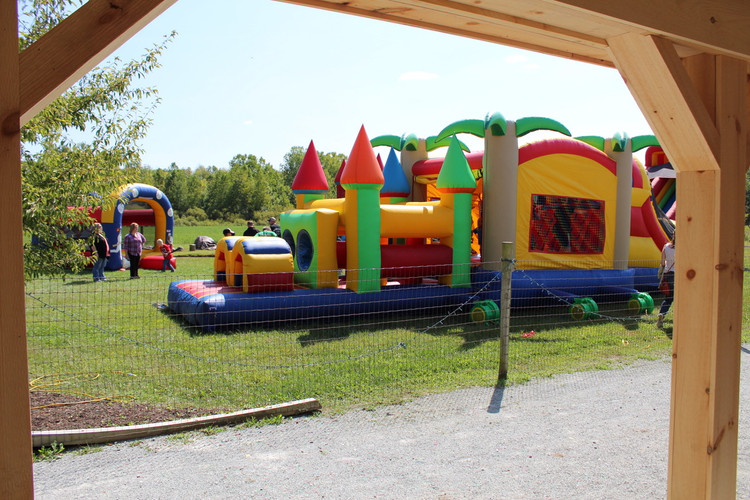 Rented inflatables for the kids