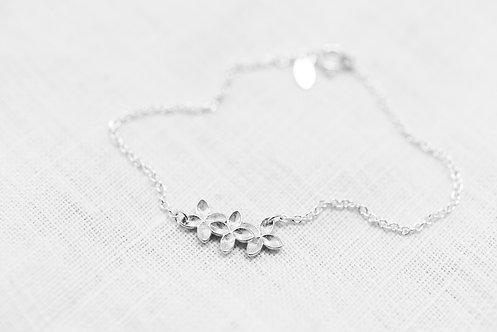 Armkette Floral - Silber