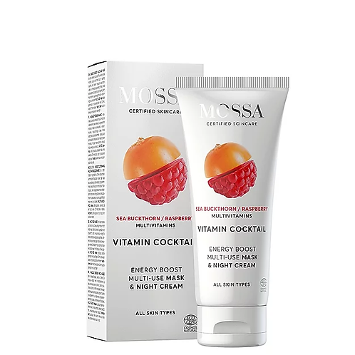 Nachtcreme MOSSA VITAMIN COCKTAIL Energy Boost Multi-Use Mask & Night Cream