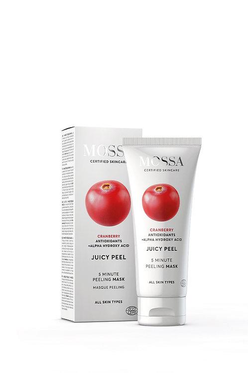 Gesichtspeeling MOSSA JUICY PEEL - 5 Minuten Peelingmaske