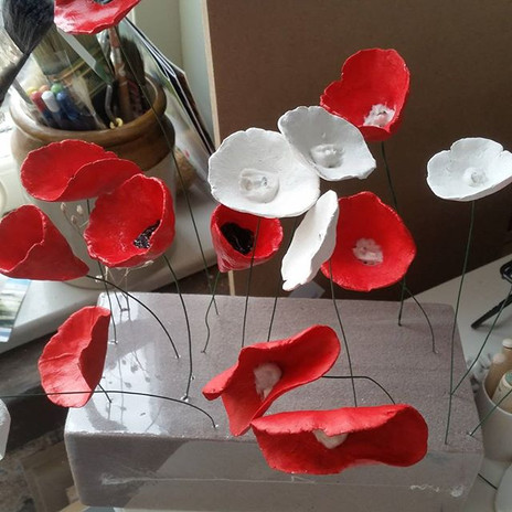Red Poppies in the making