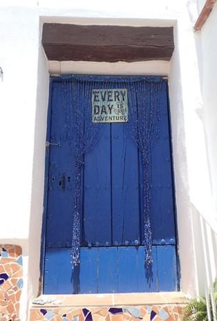 Blue studio door