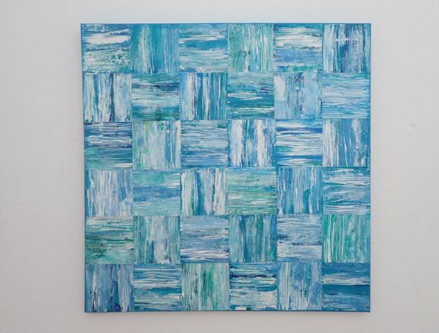 Turquoise seas 60x60cms  €175