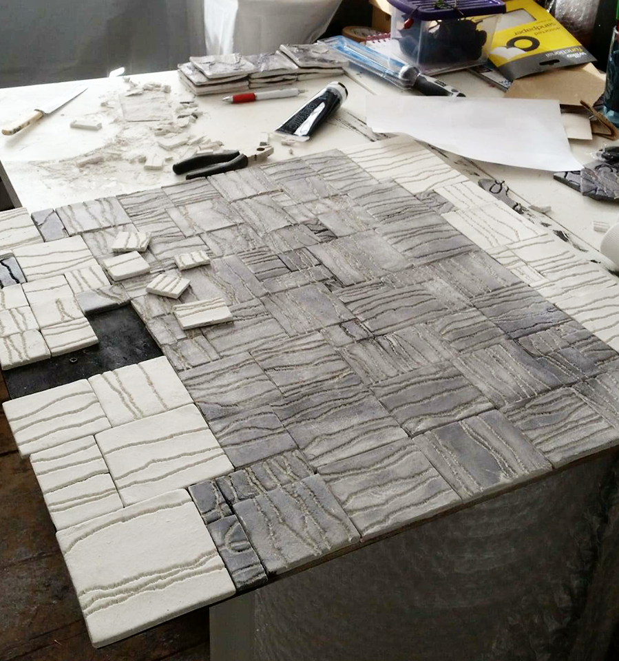 tiles in progress