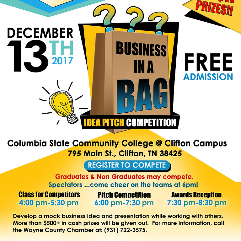 launchU Business in a Bag Pitch Competition