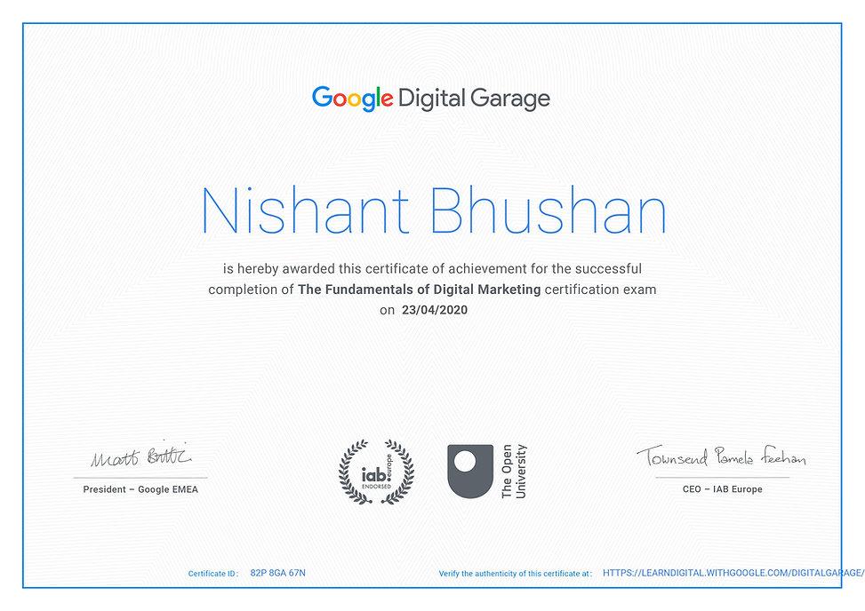 NISHANT BHUSHAN