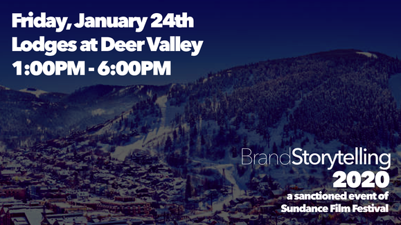 Today! January 24th at Brand Storytelling 2020