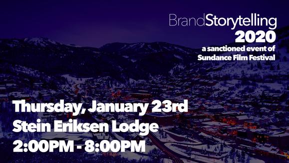 Tonight! January 23rd at Brand Storytelling 2020