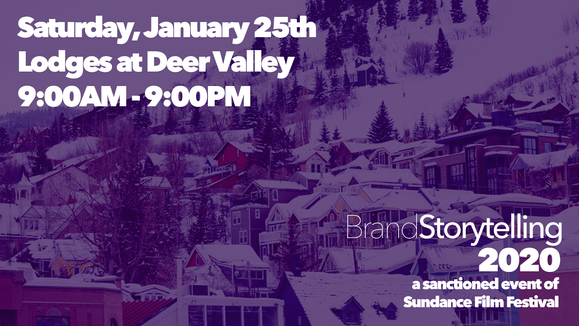 Today! January 25th at Brand Storytelling 2020