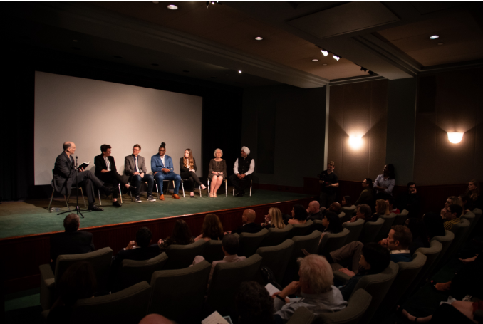 Bill Shapiro leads a panel discussion with Sarah, Tom, and the cast of HP's History of Memory at it's Tribeca Film Festival Premiere. May 2019.