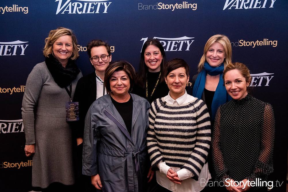 Gretchen McCourt (BLBK, Inc.), Sarah Klein (Redglass Pictures), Susan Cartsonis (Resonate Entertainment), Renee Rossi (Relativity Ventures),  Angela Matusik (HP), Tessa Blake (Writer/Director), and Alison Hoffman (Starz)