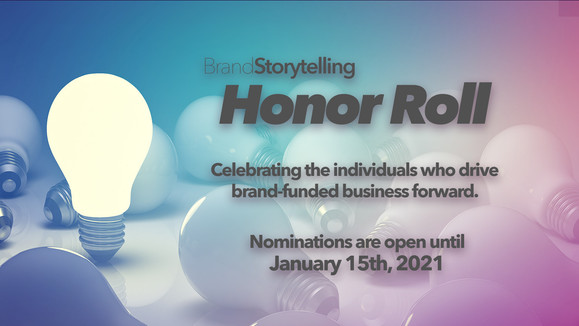 Announcing the 2nd Annual Brand Storytelling Honor Roll
