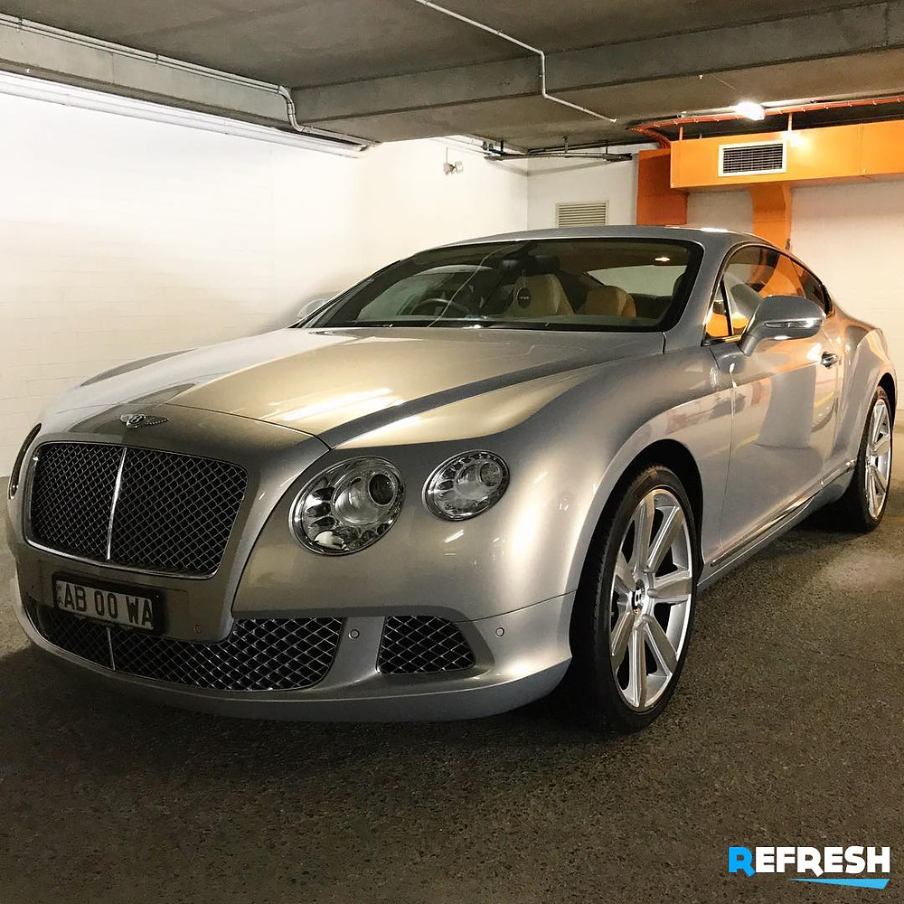 Luxury Carwash Bentley Continental GT by Refresh Car Detailing