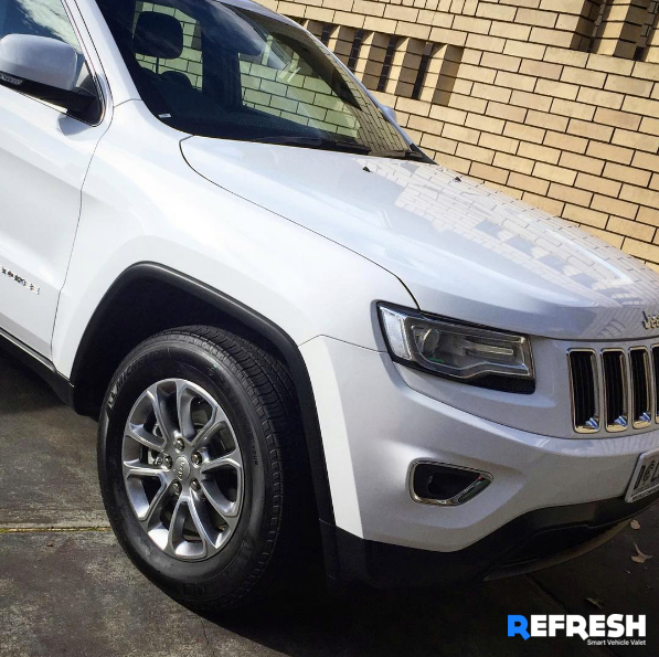 Interior and Exterior Car Cleaning a New Jeep Cherokee by Refresh Valet Perth WA