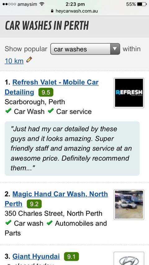 Best Carwash in Perth Screenshot
