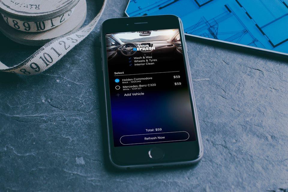 Refresh Mobile Car Detailing Uber Style App