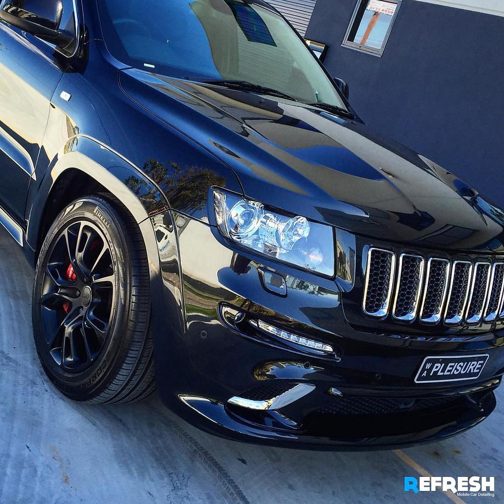 Professional Car Cleaning - SRT V8 Jeep Perth