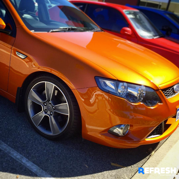 Orange Ford XR6 Turbo Detailing by Refresh Mobile Car Detailing