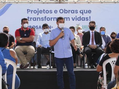 Governador do Amazonas Wilson Lima lança o Prosamin+, com investimentos de R4542 milhões em obras.