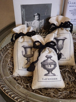 Set of 3 French Urn Sachet Bags