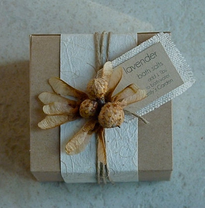 Boxed Bath Salts - Natural with Pods