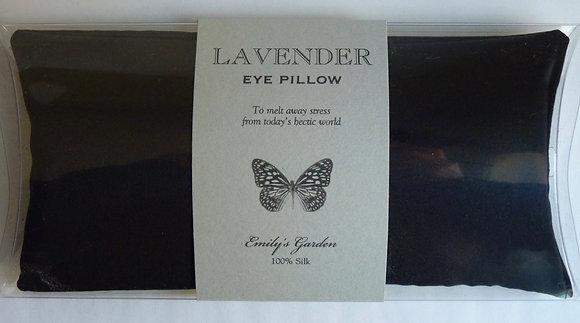 Lavender Eye Pillow-Butterfly Wrap Black
