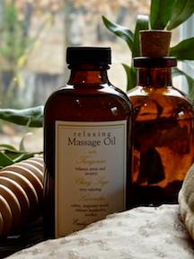 Sore Muscle Massage Oil.