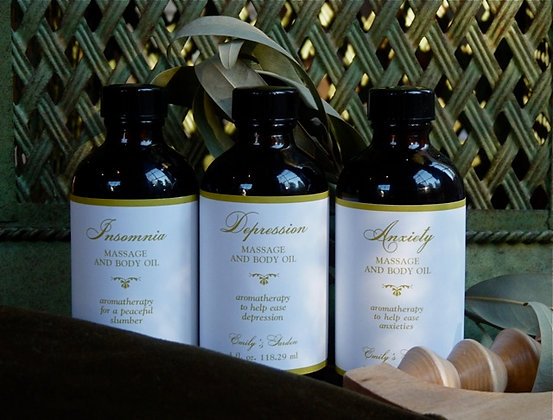 Massage & Body Oil for Emotional Distress