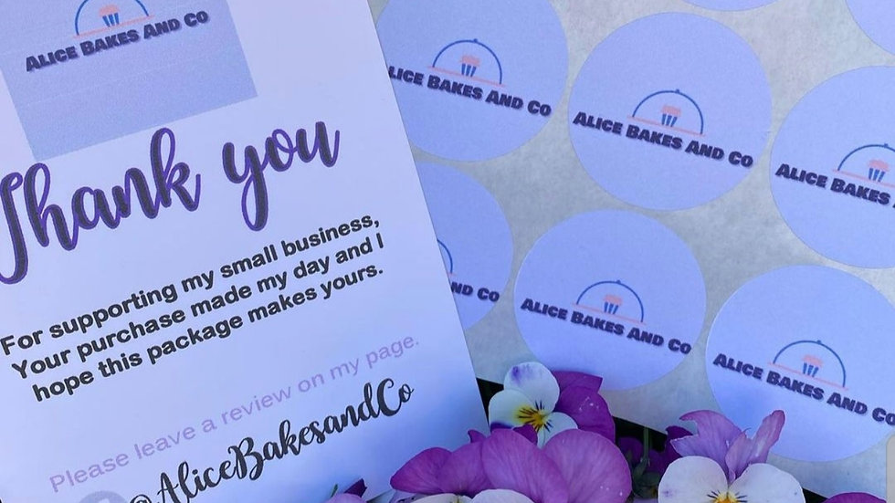 50 Personalised Thank You Cards