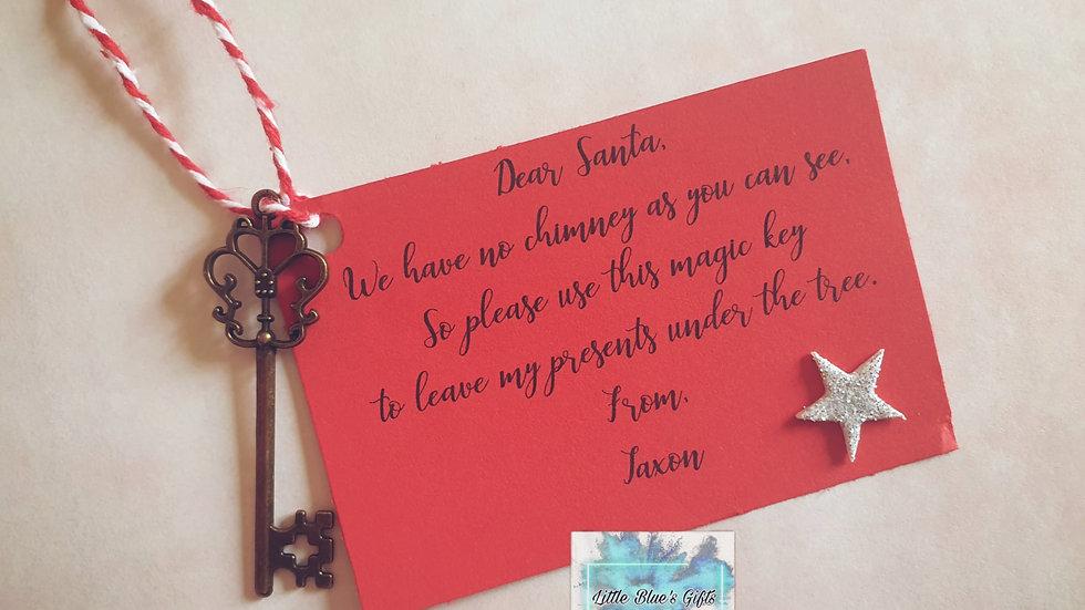 Santa Key with Poem