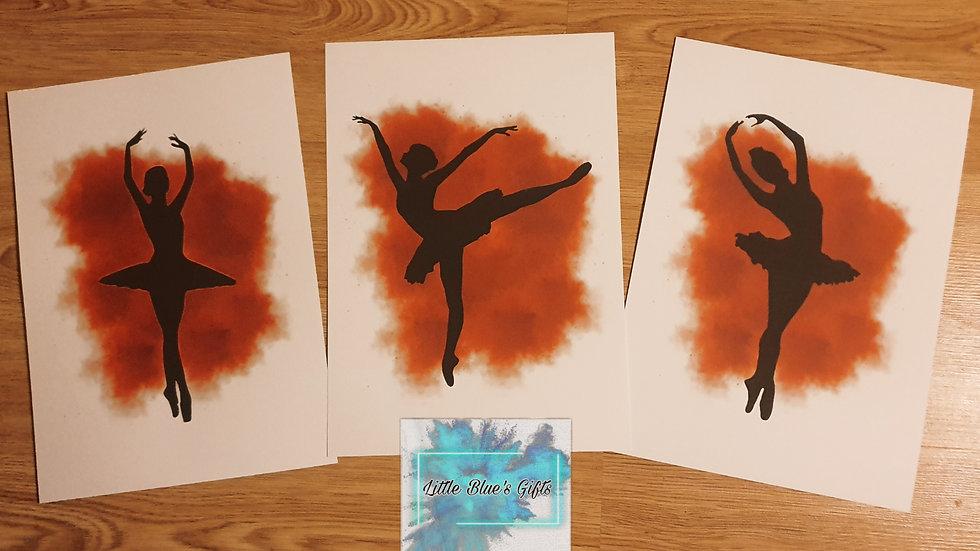 Set of 3 Ballerina Prints