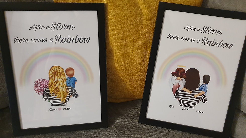 'After the Storm, there comes a Rainbow' Family Print