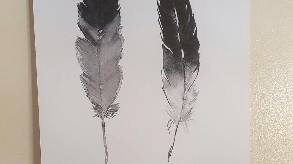 Personalised Feather Print