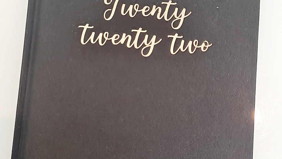 A5 Black & Gold foiled Twenty Twenty Two Diary