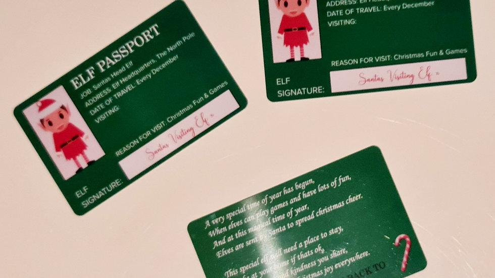 Personalised Elf Passport