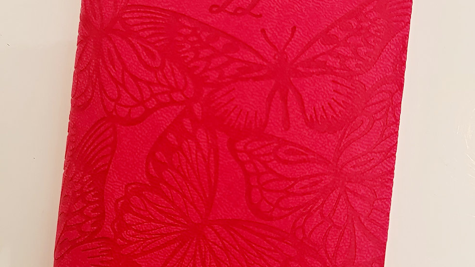 A6 Slimline 2022 Diary - Embossed Butterfly