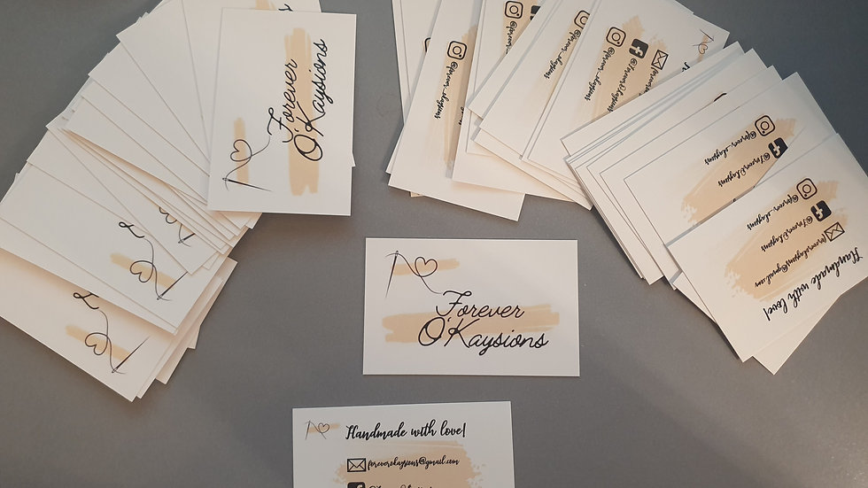 Double Sided Personalised Business Cards x 50