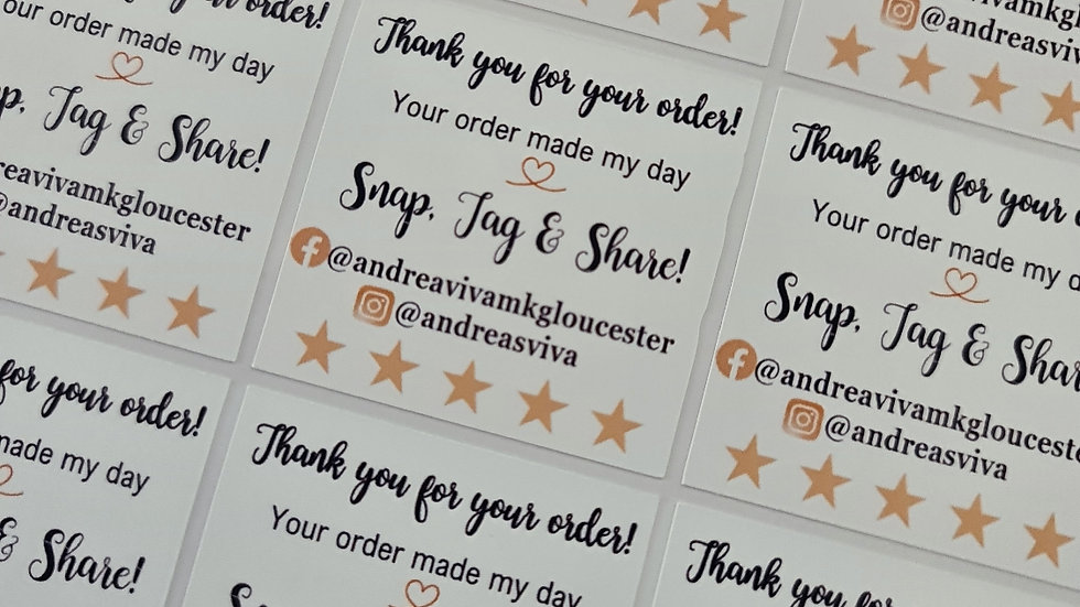 3 Sheets of Thank You Snap, Tag, Share Stickers