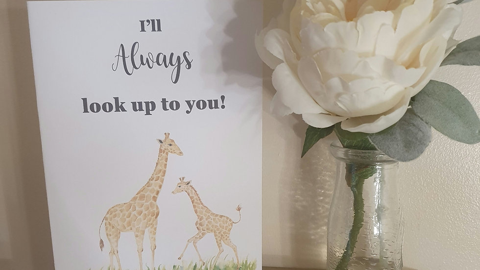 Look up to you Quote Greeting Card