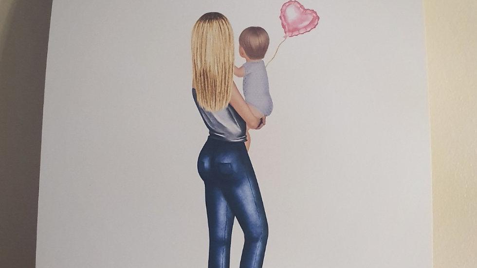 Mummy and Child Quote Print