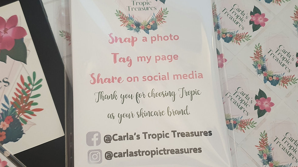 50 Personalised A6 Snap, Tag & Share Cards