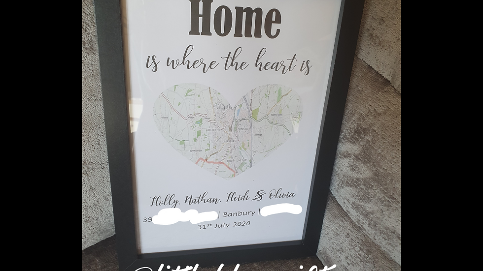 First Home Map Print