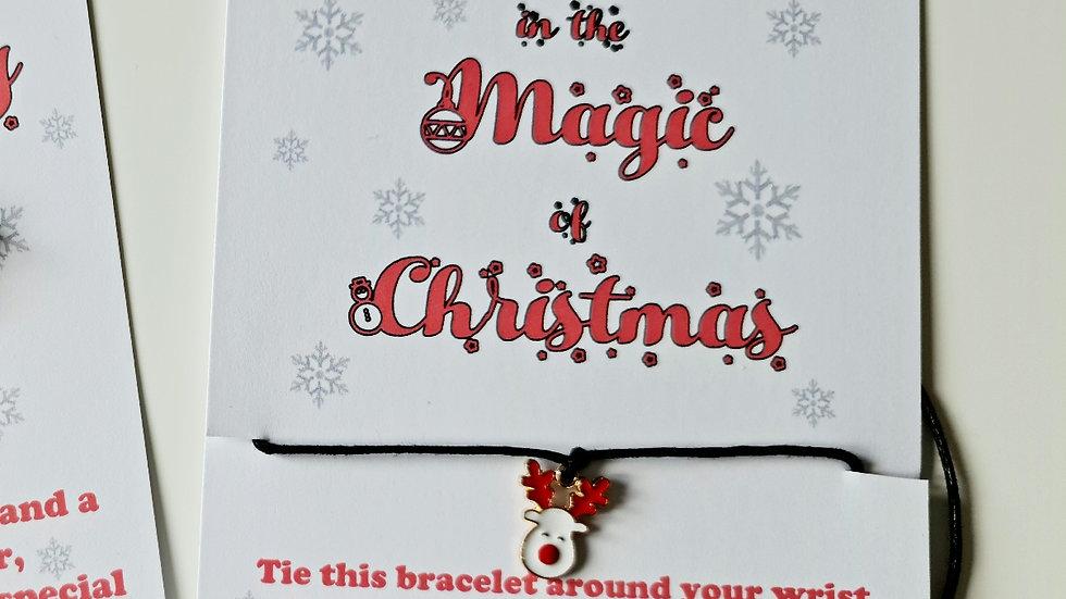 20 x Christmas Wish Bracelets - Mixed Christmas Charms