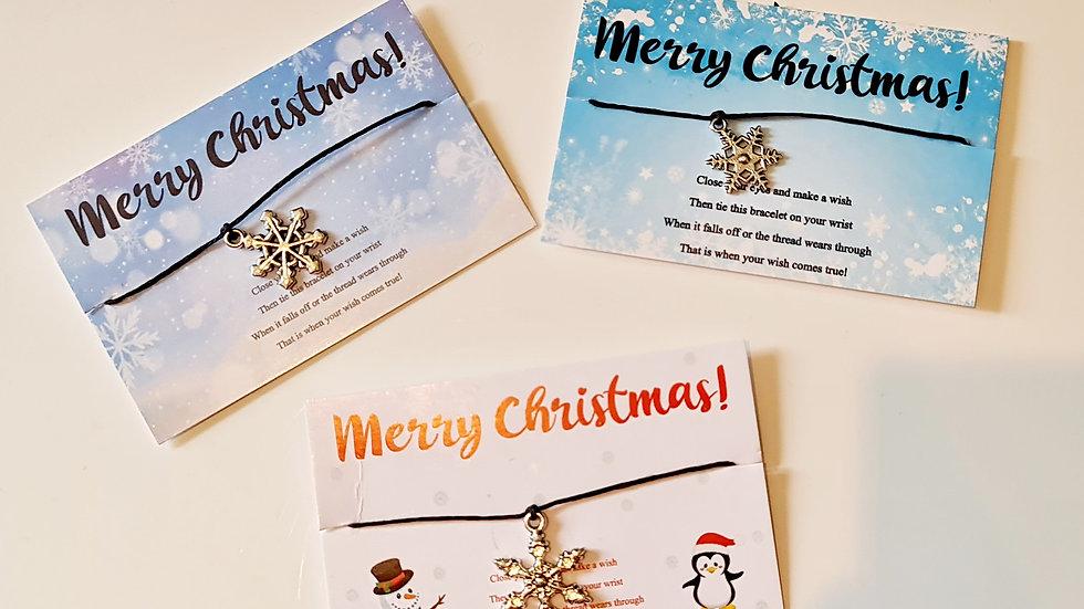 10 Christmas Wish Bracelets - Mixed