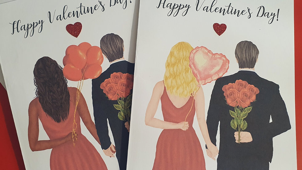 Personalised Couple Valentines Day Greeting Card