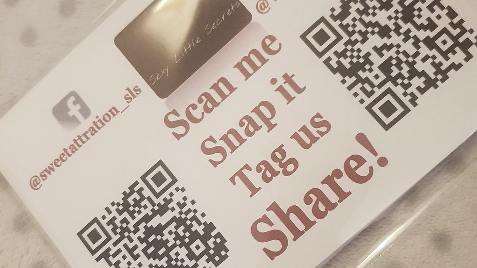 Personalised Snap, Scan, Tag, Share A6 Cards x 30