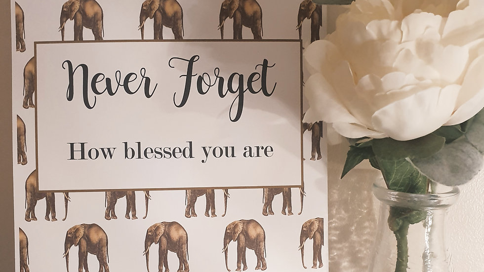 'Never Forget' Quote Print
