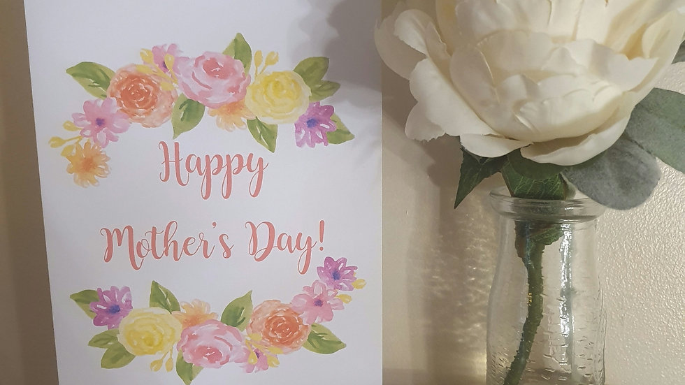 A5 Mother's Day Greeting Card