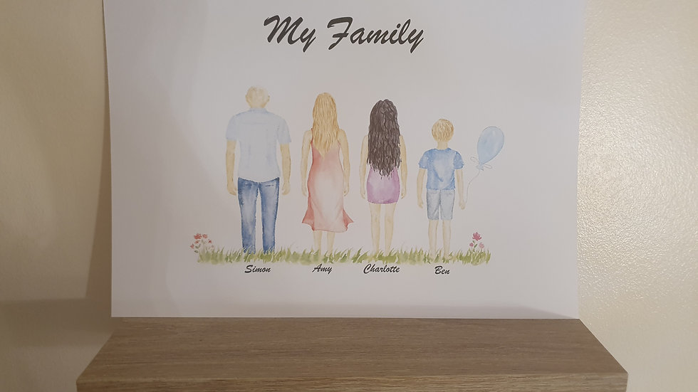 My Family Personalised Print