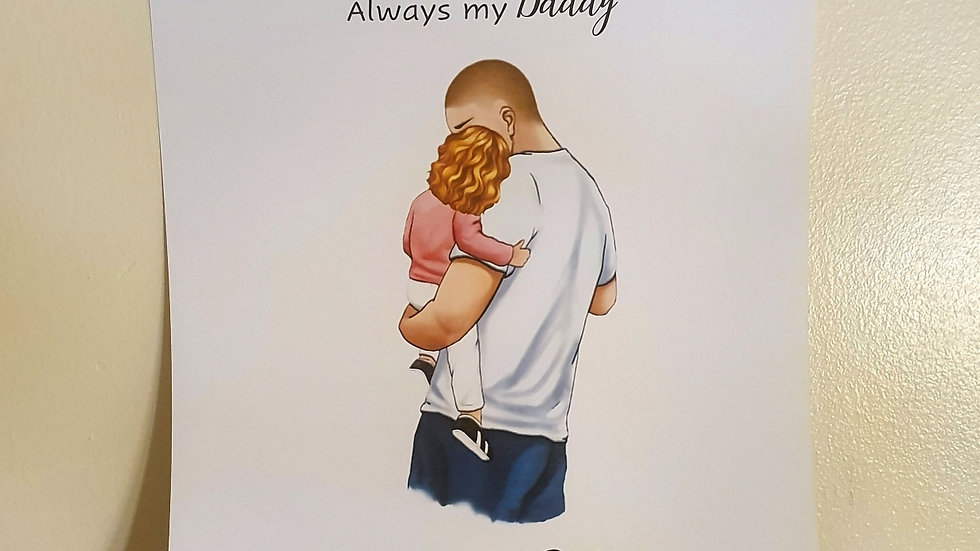 Daddy & Child Personalised Print